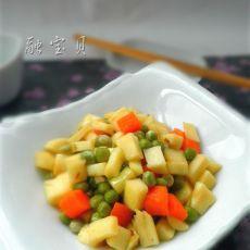 茭白炒豌豆