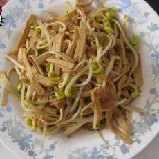 黄豆芽炒豆皮的做法