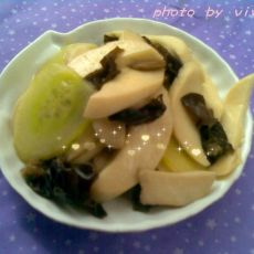 杏鲍菇木耳炒黄瓜