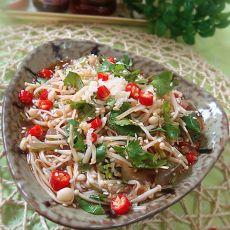 凉拌金针菇海蜇丝