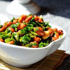 香菜拌花生米的做法