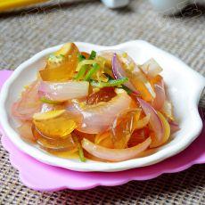 姜丝洋葱拌皮蛋