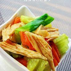 夏日小凉菜--红油腐竹拌莴笋