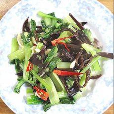 青菜拌木耳的做法