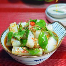 荆芥拌豌豆凉粉的做法
