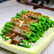 夏季小菜麻酱拌豇豆