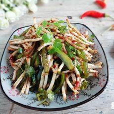 青椒拌鱼腥草的做法