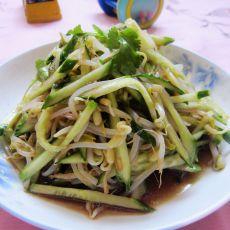 凉拌黄瓜豆芽菜的做法