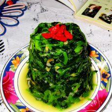 炝拌虾皮菠菜
