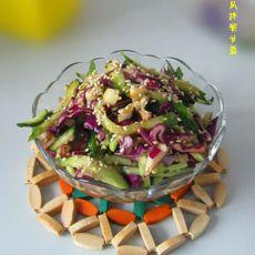 黄瓜拌紫甘蓝的做法