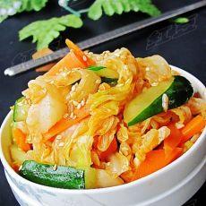 在家做韩式小菜---韩式拌白菜