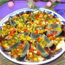 豆腐伴皮蛋   下酒菜