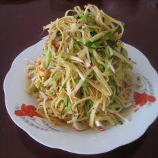 黄瓜丝拌干豆腐丝