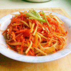 凉拌香辣红萝卜豆腐丝的做法