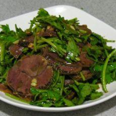 香菜拌牛肉