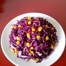 紫甘蓝拌玉米的做法