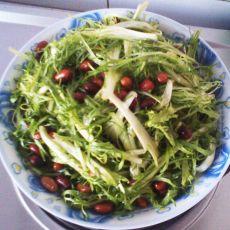 苦菊拌花生米的做法