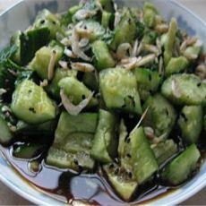 虾皮拌黄瓜