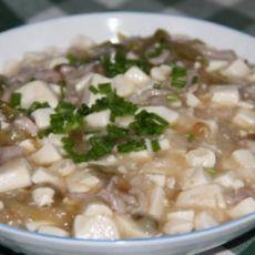 榨菜肉丝豆腐羹