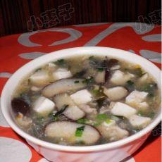 豆腐花菇肉丝羹