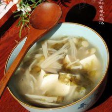 一个人的快手汤羹---紫菜豆腐汤