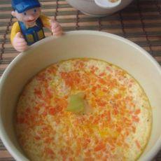 红萝卜虾皮鸡蛋羹
