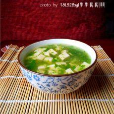 虾皮青菜豆腐羹的做法