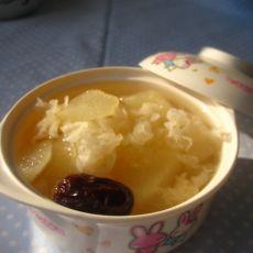 红枣砀山梨炖银耳的做法