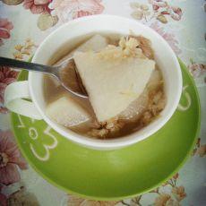 雪梨菊花茶的做法