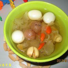雪耳鹌鹑蛋养神汤
