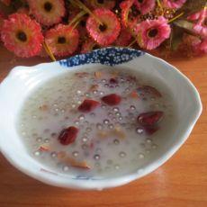 酸奶红枣西米糖水