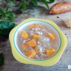 银耳薏米红薯糖水