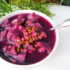 绿豆薏米紫薯汤