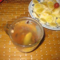 姜汁花果茶