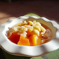 百合莲子冰糖煲木瓜
