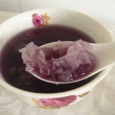 冰糖银耳紫薯羹
