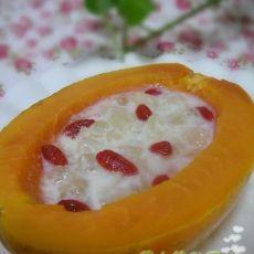 椰奶木瓜香莲甜品