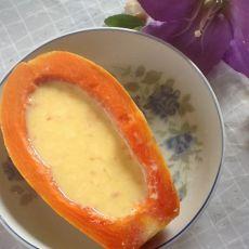 木瓜炖蛋奶