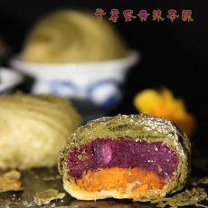 紫薯蛋黄抹茶酥