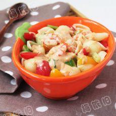 鲜虾意面沙拉的做法