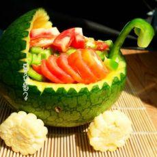 果蔬沙拉车―夏日梦幻菜的做法