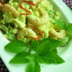 罗勒鲜虾沙拉的做法