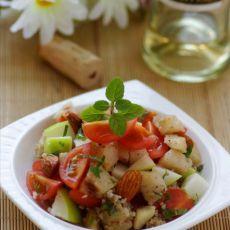 鱼粮满仓的健康沙拉:麦香鳕鱼杏仁沙拉的做法