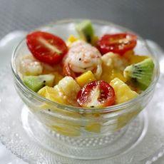 鲜虾芒果蜜乳沙拉