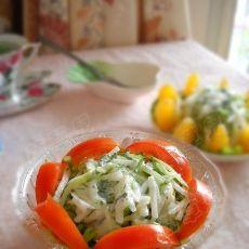 清凉薄荷蔬果沙拉的做法