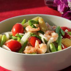 鲜虾双笋沙拉的做法