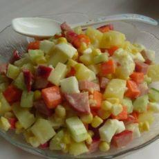 蛋黄鲜蔬沙拉的做法