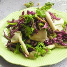 蘑菇紫甘蓝沙拉