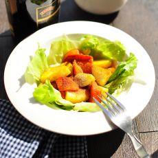 煎土豆胡萝卜红酒沙拉的做法