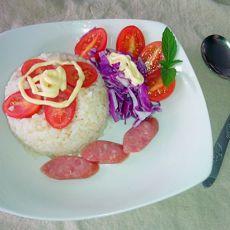 圣女果米饭沙拉